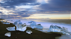the promise of an exciting, fresh new day - HSS! (lunaryuna) Tags: longexposure sky seascape clouds sunrise landscape dawn coast iceland wake shoreline le lunaryuna jokulsarlon glacierbay hss northatlantic diamondbeach southiceland natureabstract sliderssunday glacialicefloes
