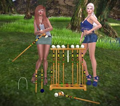 Croquet, Anyone? (lauragenia.viper) Tags: people outdoor avatar croquet mayfly flippant persnickety secondlifefashion tameless welovetoblog ipiteme rezology