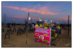 Chaat Bhandar (msankar4) Tags: summer food india beach marina corn chat indianocean boardwalk junkfood snacks bluehour marinabeach chennai streetfood tamil tamilnadu vendors roster chaat cornroster