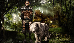 Once Upon a Time... (Migan Forder) Tags: elf male fantasy warrior beard epic snow winter tiger
