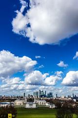 Greenwich View (Autolavaggiobatman) Tags: color verde london skyline canon landscape nuvole colorfull greenwich cielo luci 135 18 prato londra viaggio inghilterra londontrip 2016