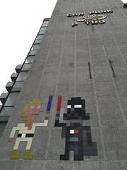 Space inDarth Vader. London. June 2016. (atomic girl nyc) Tags: streetart graffiti starwars mosaic spaceinvader 8 darthvader bit