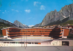 Ansichtkaart Dolomiti Cortina1224m Stadio Olimpico Ghiaccio (dickjan thuis) Tags: cortina postcard dolomiti stadio ghiaccio postkarte olimpico ansichtkaart 1224m
