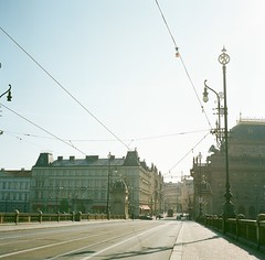 Morning in Prague. (Saori_) Tags: morning film rolleiflex czech prague praha