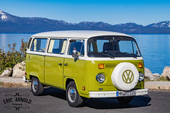 Tahoe Bus (Eric Arnold Photography) Tags: life california ca lake mountains bus classic water vw vintage magazine volkswagen coast automobile shoot photoshoot nevada tahoe laketahoe automotive retro nv cover shore van camper kombi feature sparetire