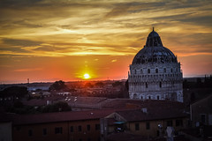 Pisa Sunset 6 (chriswalts) Tags: travel sunset italy streets tower night pisa leaning