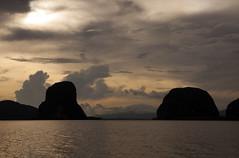 Sunset (mary.ovch) Tags: sunset sea sky cloud mountain nature thailand evening sand nikon outdoor d90