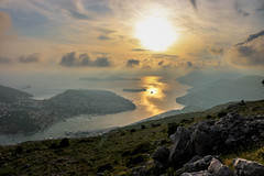 Mount Srd (Amrit K. Sharma) Tags: light sunset sea boat dramatic mount srd