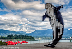 (Tewmom) Tags: vancouver harbor landscape sculpture digitalorca