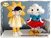 BONECAS NUVEM E SOL (KEILARTES) Tags: sunshine nuvem de amor decoração almofada sol móbile boneca feltro keilaartes lembrancinhaaniversário personalizados