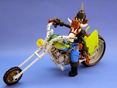 The Roadhog (Djokson) Tags: bike pig chopper lego motorcycle custom hog warthog paintjob moc hogwild djokson