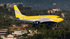 ASL Airlines 737QC. (spencer.wilmot) Tags: cfu corfu ioanniskapodistrias lgkr 737 fgztm aviation airplane aircraft airliner airport arrival approach boeing yellow europeairpost asl fpo 5o aslairlines b733 737300 737qc quickchange b737qc 737300qc frenchpost plane jet jetliner landing