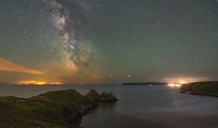 'Bioluminous Bay' - Three Cliffs Bay, Gower (Kristofer Williams) Tags: bioluminesence bioluminosity dinoflaggelates night sky stars nightscape threecliffsbay gowerpeninsula wales landscape beach coast marine bay walescoastpath airglow atmosphere astrophotography astro
