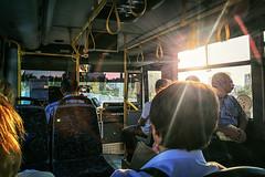 It never feels like a repeat (Melissa Maples) Tags: antalya turkey trkiye asia  apple iphone iphone6 cameraphone instagram sunflare lensflare flare publictransport bus morning
