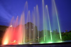 Musical fountain, Mysore. (kailas bhopi) Tags: brindavan garden mysore karnataka musicalfountain fountain light dancingwater nikon d5100 1855