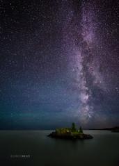 The Milky Way Over Lake Superior (glness) Tags: milkyway lakesuperior northshore gregness stars night longexposure island islet 14mmrokinon northernlights auroraborealis lake gitchegumee greatlakes largest bigwater