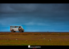 Driven by wanderlust (I) (Yiannis Chatzitheodorou) Tags: iceland road landscape vehicle sky