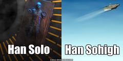 PopFig: Han Solo and ... (JD Hancock) Tags: jdhancock popfig comics lol webcomics geeky photocomics fun funny hansolo starwars millenniumfalcon