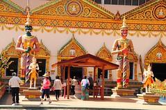 Reclining Buddha Guardians. (john a d willis) Tags: buddha georgetown malaysia penang guardians recliningbuddha watchayamangkalaram