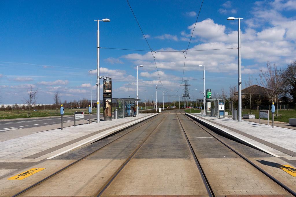LUAS TRAM STOP IN CITYWEST [APRIL 2015] REF-103242