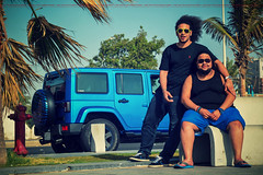 Me + Redo (dr.7sn Photography) Tags: park street blue red sea black shirt hair us nikon long doors jeep afro 4 palm professional hydro saudi arabia zebra jeddah unlimited polo jk assen wrangler  2014    55200mm   cornich     jku           d7100                 d71ll