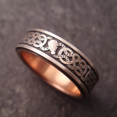Custom Viking Knot Ring (downtothewiredesigns) Tags: wedding animal dragon head snake band knot ring celtic custom viking