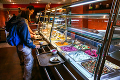 At a cafeteria-style restaurant in Saint Petersburg, Russia (inchiki tour) Tags: travel restaurant foods photo europe russia saintpetersburg cafeteria russian  leningrad 2014