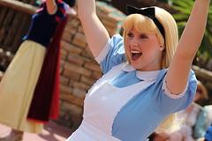 Alice (MediumHero6) Tags: world face festival orlando mine florida alice character magic parks kingdom disney parade fantasy mad wdw wonderland walt mk hatter frontierland fof