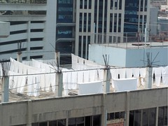 Rooftop closelines (Mimi_K) Tags: thailand bangkok laundry clothesline washing