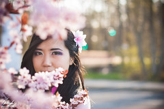 Beautiful like thousand blossoms (InsaneAnni) Tags: portrait germany cherry costume spring vietnamese dress traditional blossoms frhling chemnitz kostm tracht kirschblten   vietnamesin