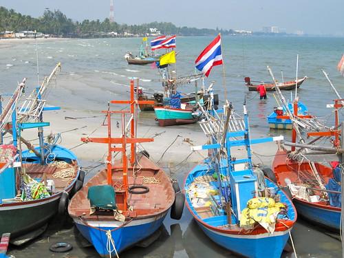 Bateaux de pêche à Hua Hin