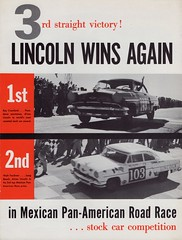 1954 Lincoln in Mexican Road Race (Carrera Panamericana) (aldenjewell) Tags: road race 1954 mexican lincoln brochure carrera panamericana