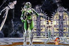 Kamila Surette in SoulcaliburIV (Cliffather) Tags: bikini videogame cleavage busty 1000views soulcalibur bandainamco