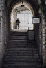 Gates of Jerusalem (lostevil) Tags: stairs canon soldier 50mm israel alley gate quiet outdoor military sony jerusalem middleeast streetphotography f18 a7 fd canonfd50mm18 a7ii canonfd50mmf18 canonfd50mm sonya7 sonya7ii