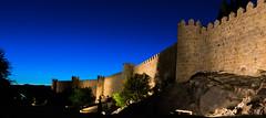 Murallas de Avila (Alberto G. G.) Tags: blue sky espaa colors azul wall architecture night spain nikon cityscape colours outdoor colores cielo hour hora muralla avila d7100 hccity