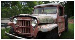 Willys (daveelmore) Tags: panorama truck junk rust pickup pickuptruck vehicle willys patina stitchedpanorama lumixleicadgsummilux25mm114