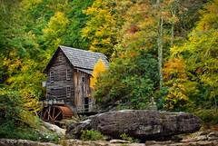 Degas on Glade Creek (KRHphotos) Tags: trees mill nature architecture landscape us unitedstates fallcolors digitalpainting westvirginia gladecreek babcockstatepark danese gladecreekgristmill
