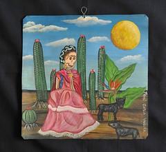 Frida and her Xolo Dogs Painting (Teyacapan) Tags: art dogs mexico desert paintings frida mexican aguilar ocotlan xolos