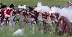 The British Line Responds (Rob Shenk) Tags: english colonial rifles event soldiers muskets british revolutionarywar americanrevolution reenactment mountvernon redcoats gunfire revwar