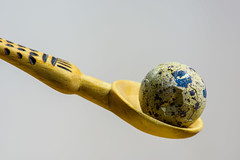 All Your's . HMM ! (Zahid - At sea - Thanks for the views ,Favs and co) Tags: spoon egg indoor textures bokeh bright light nikond810 nikon105mmmacro birdsegg woodenspoon handmadespoon brokenegg yelow blue broken design pattern anythinggoes serene macro closeup details