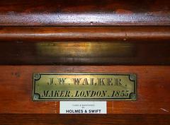 JW Walker, maker, London 1855 (Simon_K) Tags: church churches peterborough cambridgeshire sutton eastanglia cambs soke suttoncumupton