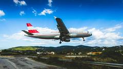Approaching Skiathos (Nicola Pezzoli) Tags: travel summer sunrise airplane landscape island airport landing greece airbus airlines skiathos austrian