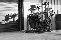 steampunk drumset (fallsroad) Tags: blackandwhite bw rust industrial decay machine steampunk tulsaoklahoma nikond7000