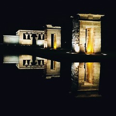 Reflection (jeqv) Tags: madrid reflection night photography egypt picture egyptian architcture archeology nuit templo templeofdebod