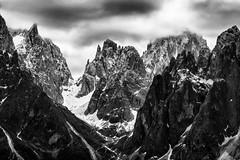 Approaching Orodruin... (Ody on the mount) Tags: italien bw monochrome urlaub wolken berge sw sdtirol wanderung dolomiten gipfel anlsse fnffingerspitze