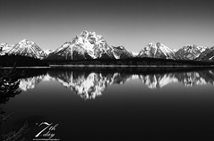 Reflections in the water (Seventh day photography.ca) Tags: mountain lake reflection water landscape spring unitedstates wyoming grandtetonnationalpark chapelbay