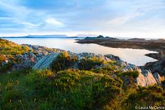 View to small isles (Laura McCance) Tags: ocean sunset sea scotland unitedkingdom inlet rum eigg camusdarach