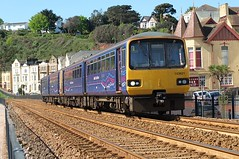 Along The Sea Wall (crashcalloway) Tags: trains seawall devon seafront railways firstgreatwestern pacer dawlish dmu dieselmultipleunit fgw class143 143621