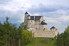 Follow me to the hill, to the castle of placidity (Paulina_77) Tags: wood travel blue trees sky cloud white building travelling tower castle rock wall architecture clouds facade forest fence skyscape landscape woods nikon scenery europe quiet peace view cloudy outdoor hill gothic royal rocky peaceful tranquility poland facades scene calm medieval filter jura serenity limestone drawbridge serene walls traveling nikkor polarizer moat picturesque stillness middleages 14thcentury tranquil hdr defence circular steep soothing 18105 zamek hff d90 marumi 18105mm nikond90 bobolice nikkor18105mm marumidhg 18105mmf3556 nikkor18105mmf3556 happyfencefriday pola77