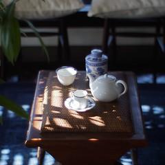 """DRESSTERIOR COLLECTION""  Canon 50mm f0.95 ( ) Tags: bokeh emount fashion   china tea indigo room"